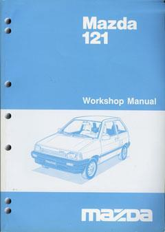 Mazda 121 (DA Series) 1986 Factory Workshop Manual - Front Cover