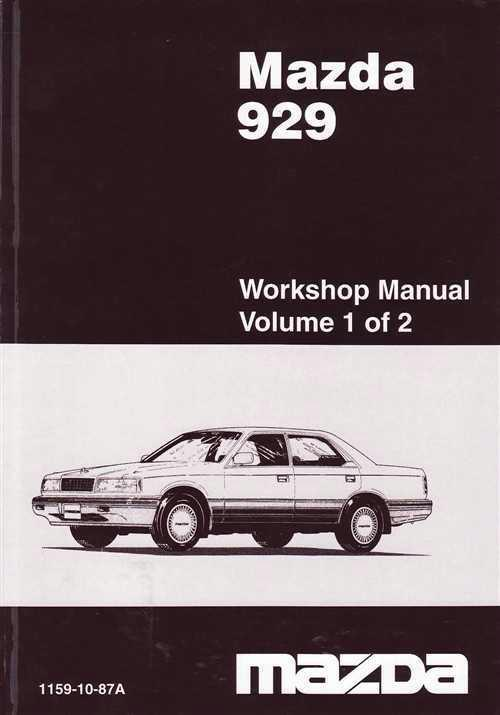 Mazda 929 HC 01/1987 Factory Workshop Manual : 2 Volume Set - Front Cover