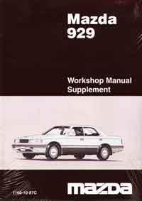 Mazda 929 HC 03/1987 Automatic Transmission Factory Workshop Manual Supplement - Front Cover