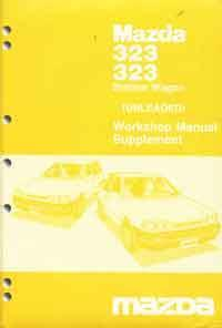 Mazda 323 BF 06/1987 Factory Workshop Manual Supplement - Front Cover