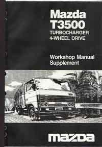 Mazda T3500 06/1987 Turbocharger / 4-Wheel Drive Workshop Manual Supplement - Front Cover