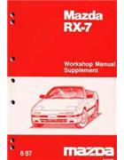 Mazda RX-7 (FC) 08/1987 Factory Workshop Manual Supplement - Front Cover