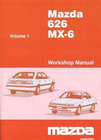 Mazda 626 (GD) & MX6 (GD) 1987 Factory Workshop Manual : 2 Volumes - Front Cover