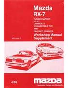 Mazda RX-7 (FC) 04/1989 Factory Workshop Manual Supplement - Front Cover