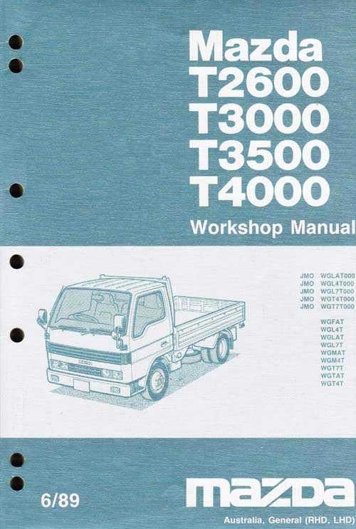 Mazda T Series (WG) 06/1989 Factory Workshop Manual: Volume 1 (Engine)