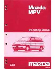 Mazda MPV LV 07/1989 Factory Workshop Manual Supplement