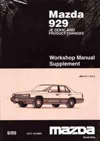 Mazda 929 HC 08/1989 Factory Workshop Manual Supplement - Front Cover