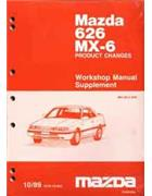Mazda 626 & MX6 GD 10/1989 Factory Workshop Manual Supplement - Front Cover