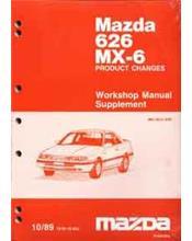 Mazda 626 & MX6 GD 10/1989 Factory Workshop Manual Supplement