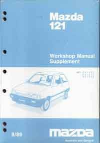 Mazda 121 (DA) 1989 Factory Workshop Manual Supplement - Front Cover