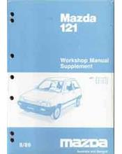 Mazda 121 (DA) 1989 Factory Workshop Manual Supplement