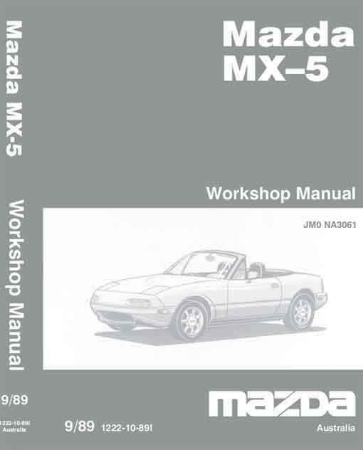 Mazda MX-5 NA 09/1989 Factory Workshop Manual - Front Cover