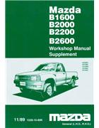 Mazda B Series 11/1989 Factory Workshop Manual Supplement - Front Cover