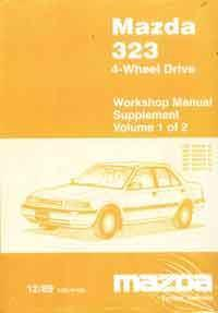 Mazda 323 (BG) 4-Wheel Drive Factory Workshop Manual Supplement - Front Cover