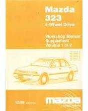 Mazda 323 (BG) 4-Wheel Drive Factory Workshop Manual Supplement