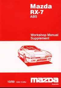 Mazda RX-7 (FC) 10/1989 Factory Workshop Manual Supplement - Front Cover