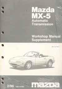 Mazda MX-5 NA 02/1990 Automatic Transmission Factory Workshop Manual Supplement - Front Cover
