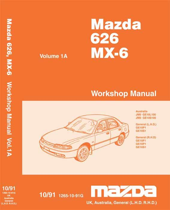 Mazda 626 & MX6 GE 07/1991 Factory Workshop Manual - Front Cover