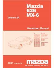Mazda 626 & MX6 GE 07/1991 Factory Workshop Manual: Volume 2A