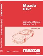 Mazda RX-7 FD 12/1991 Factory Workshop Manual (2 Volume) - Front Cover