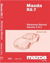 Mazda RX-7 FD 12/1991 Factory Workshop Manual (2 Volume)