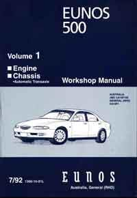 Mazda Eunos 500 CA 1992 Factory Workshop Manual - Front Cover