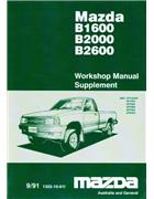 Mazda B Series 09/1991 Factory Workshop Manual Supplement - Front Cover
