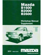 Mazda B Series 09/1991 Factory Workshop Manual Supplement