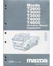 Mazda T Series (WG) 05/1992 Factory Workshop Manual Supplement