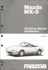 Mazda MX-5 NA 12/1993 Factory Workshop Manual Supplement - Front Cover