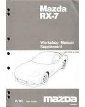 Mazda RX-7 FD 03/1993 Factory Workshop Manual Supplement