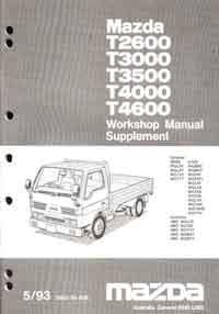 Mazda T Series (WG) 05/1993 Factory Workshop Manual Supplement - Front Cover