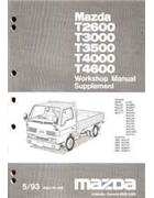 Mazda T Series (WG) 05/1993 Factory Workshop Manual Supplement