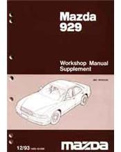 Mazda 929 HB 11/1993 Factory Workshop Manual Supplement