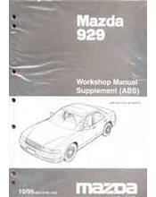 Mazda 929 HD 10/1995 Factory Workshop Manual Supplement