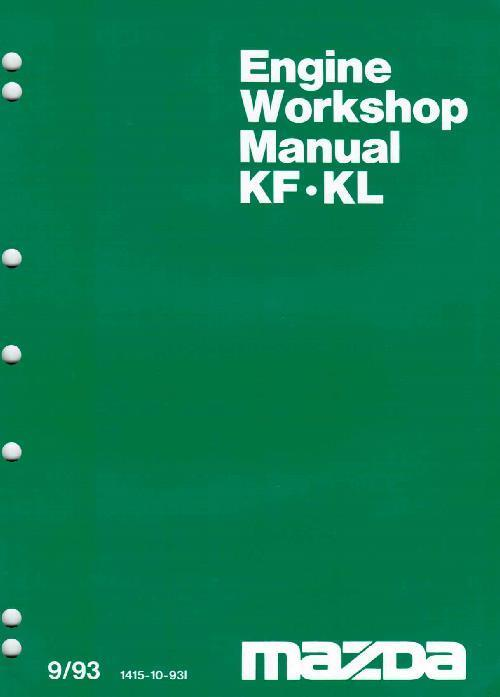 Mazda KF/KL 09/1993 V6 Engine Factory Workshop Manual Supplement - Front Cover