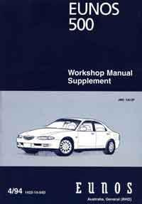 Mazda Eunos 500 CA 04/1994 Factory Workshop Manual Supplement - Front Cover