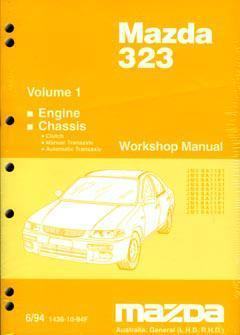Mazda 323 & Astina BA Series 06/1994 on Factory Workshop Manual : Volume 1 - Front Cover