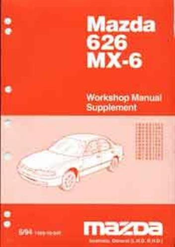 Mazda 626 & MX6 GE 06/1994 Factory Workshop Manual Supplement - Front Cover