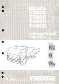 Mazda T Series (WG) 06/1995 Factory Workshop Manual Supplement - Front Cover