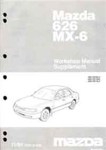 Mazda 626 & MX6 GE 11/1995 Factory Workshop Manual Supplement - Front Cover