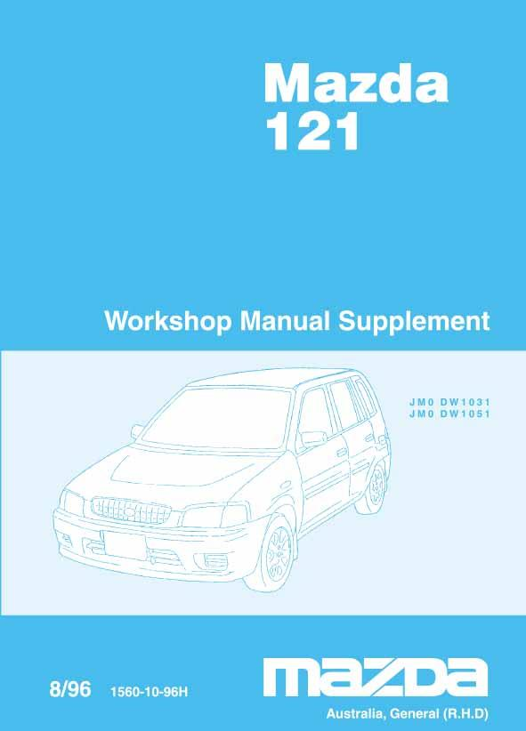 Mazda 121 DW 08/1996 Engine Factory Workshop Manual Supplement - Front Cover