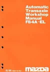 Mazda 323 BA 10/1996 Automatic Transmission Factory Workshop Manual Supplement - Front Cover