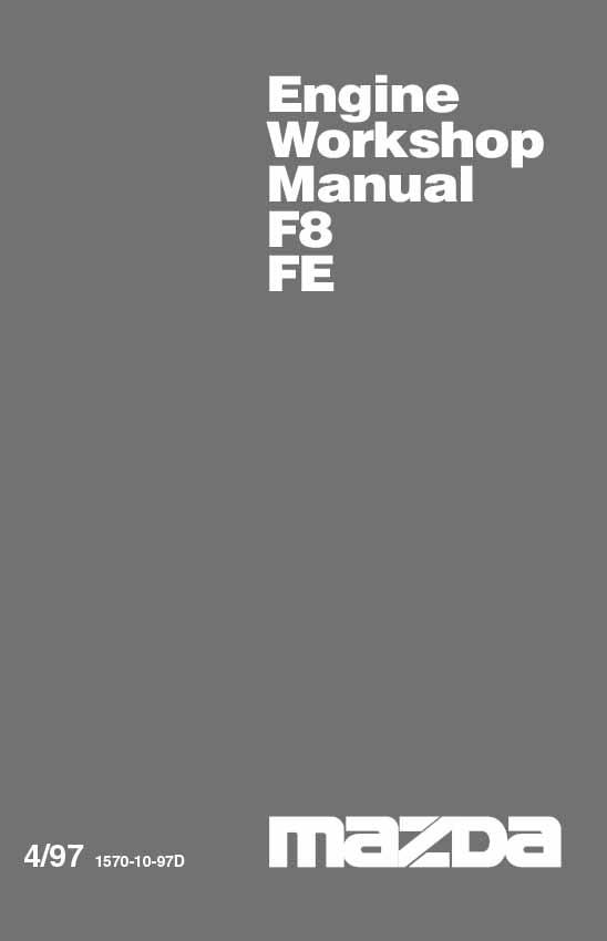 Mazda E Series 04/1997 Engine Factory Workshop Manual Supplement - Front Cover