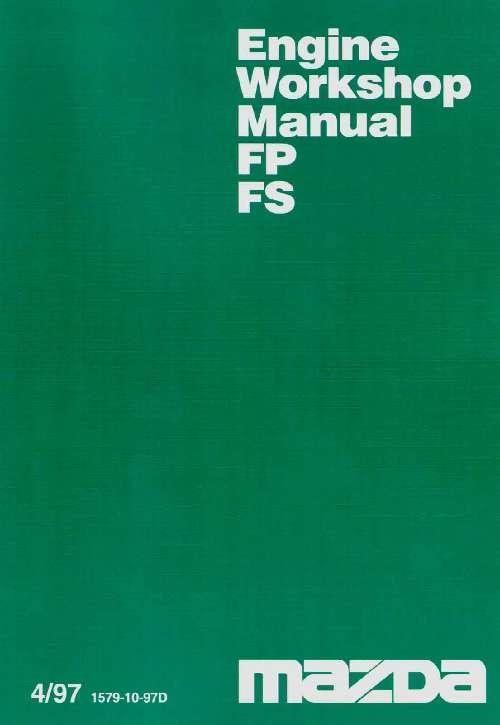 Mazda Premacy 04/1997 FS & FP Engine Overhaul Factory Workshop Manual Supplement - Front Cover