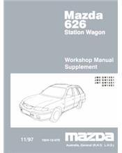 Mazda 626 GW 11/1997 Station Wagon Factory Workshop Manual Supplement