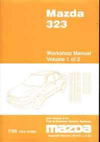 Mazda 323 BJ 07/1998 Factory Workshop Manual - Front Cover