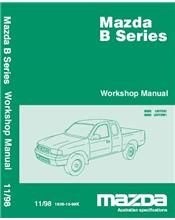 Mazda B Series (Bravo) Petrol & Diesel 11/1998 Factory Workshop Manual