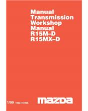 Mazda B Series 01/1999 Transmission Factory Workshop Manual Supplement