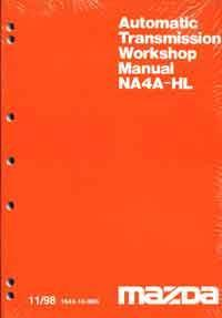 Mazda B Series 11/1998 Automatic Transmission Factory Workshop Manual Supplement - Front Cover